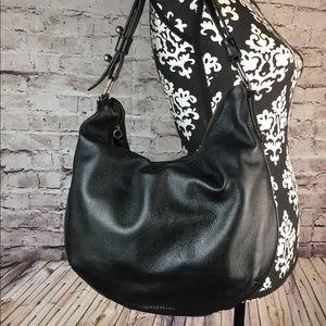 LUCKY BRAND Medium Black Leather Shoulder Handbag